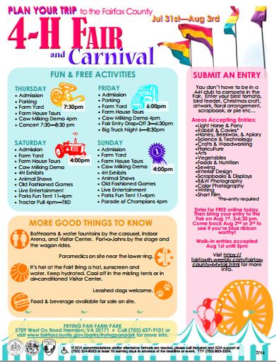 Fairfax County 4-H Fair: Freebies and useful tips! - Fairfax