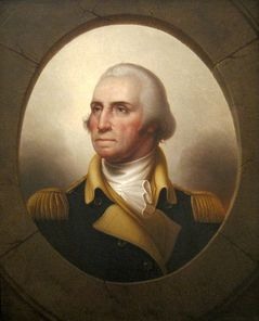 George Washington, Mount Vernon, Rembrandt Peale porthole portrait, commander in chief, president, history, schools, government