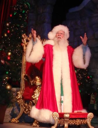 Santa Claus at the Fireside Feast at Busch Gardens Williamsburg Christmas Town