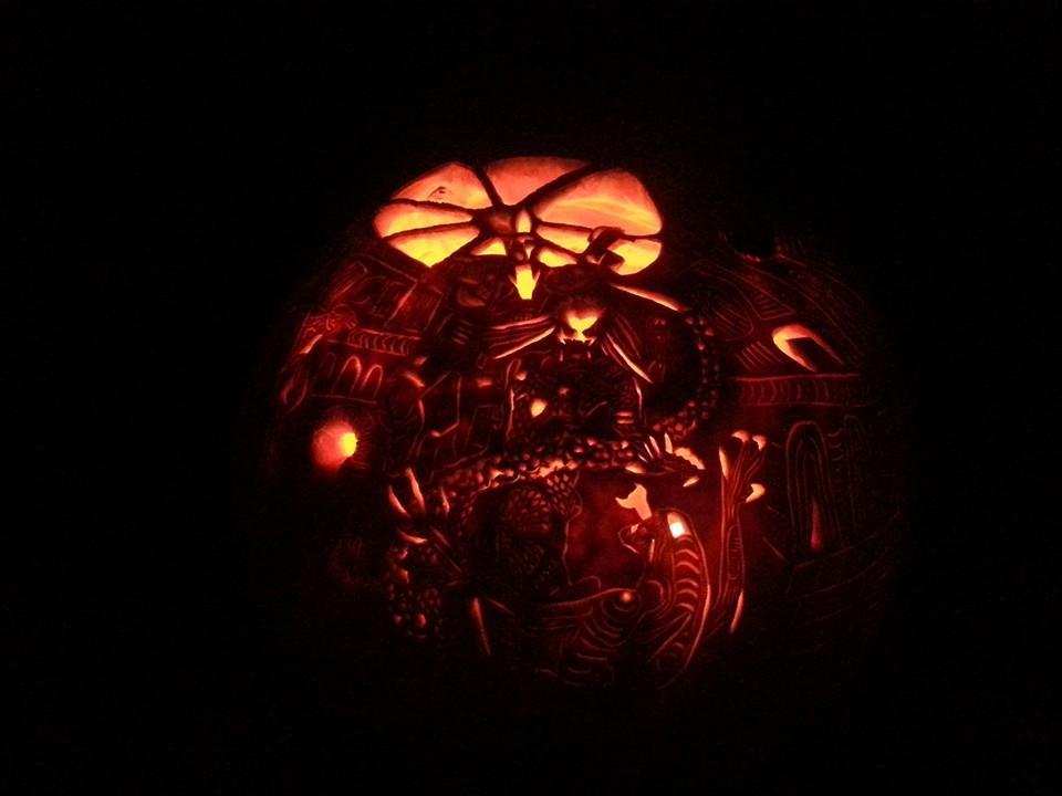 Halloween carved pumpkin art Centerville Virginia Fairfax Family Fun
