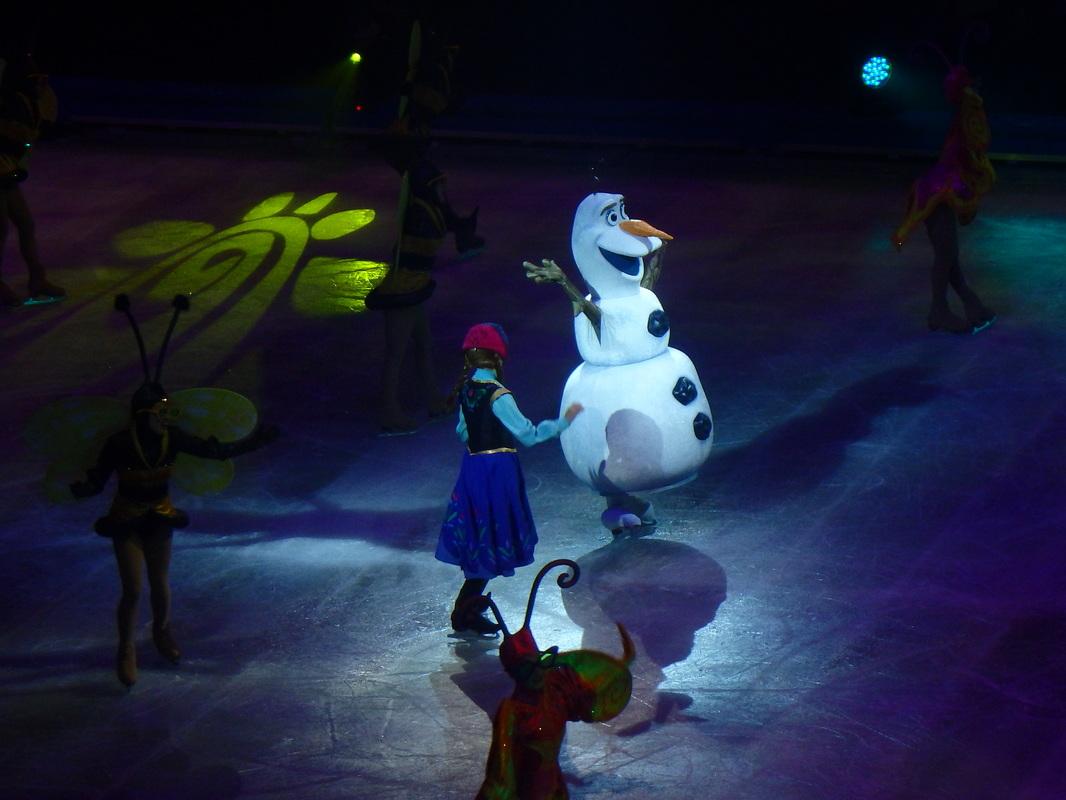 Olaf snowman Frozen Elsa Anna Disney on Ice