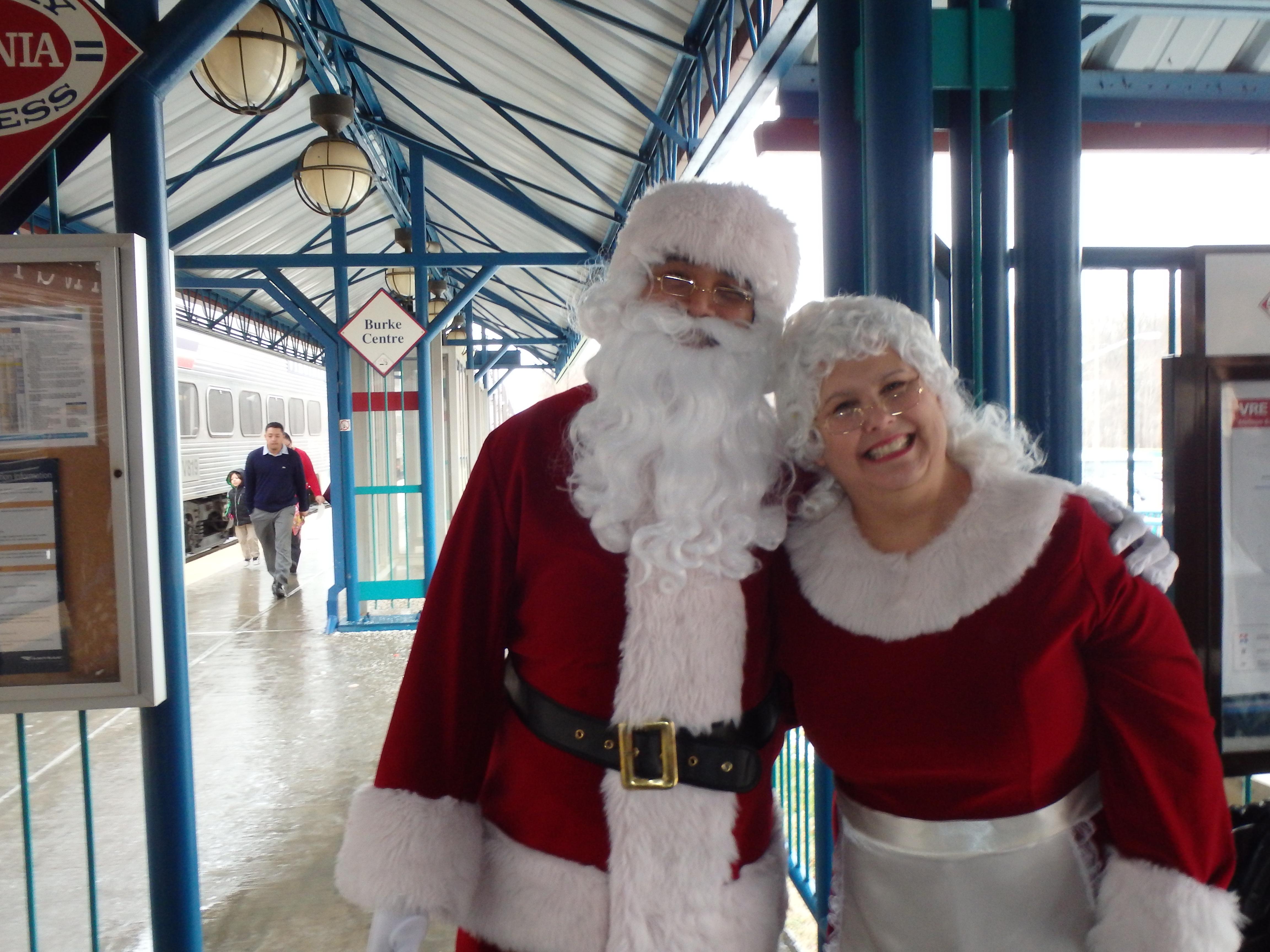 Santa on the VRE Santa Train Christmas holiday Virginia Railway Express