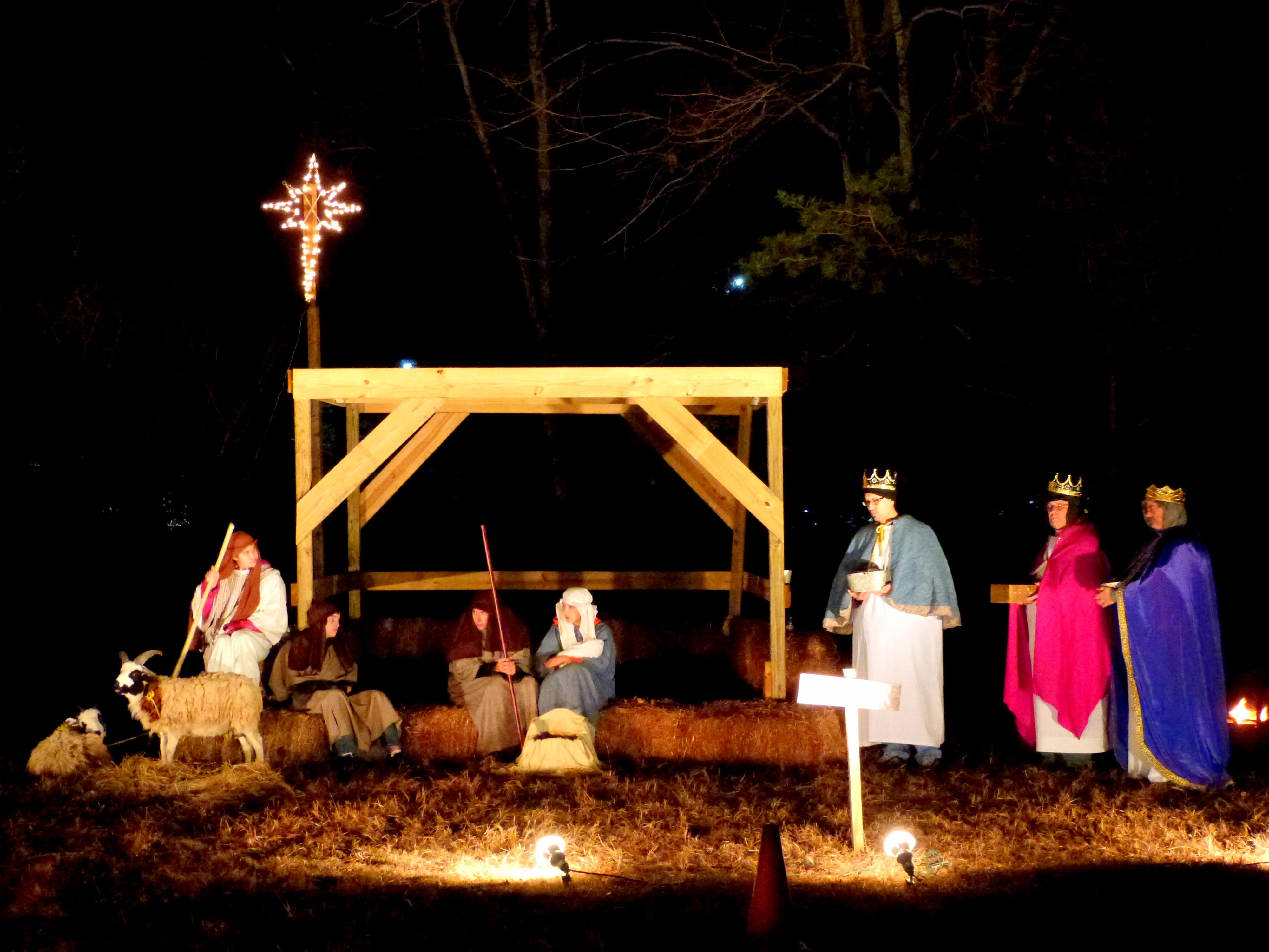 Live Nativity Christmas event Virginia