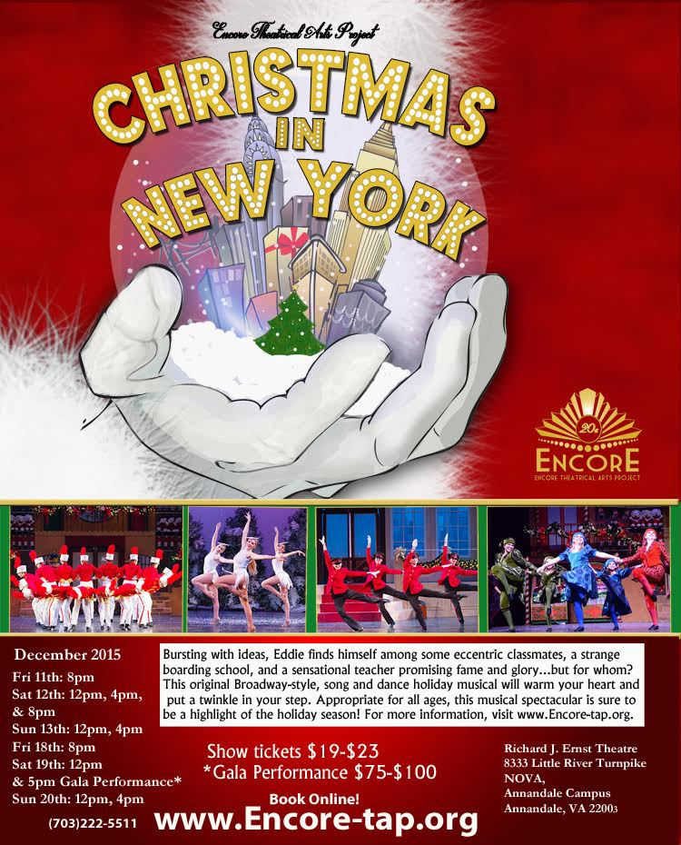 ETAP Encore Theatrical Arts Project musical dance theatre Christmas in New York