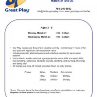 Great Play announces Spring Break camps