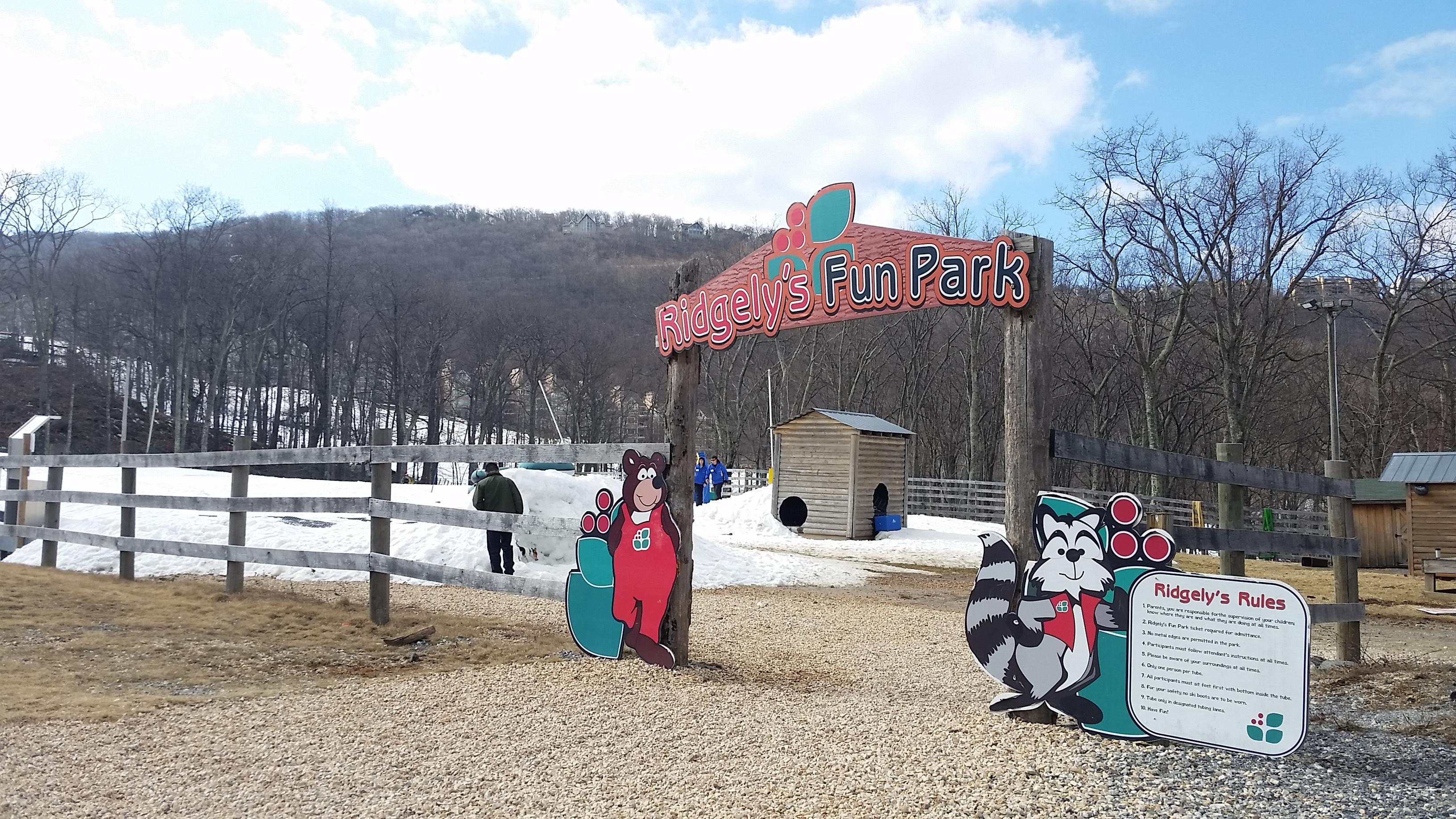 Ridgely's Fun Park kiddie area at Wintergreen Resort in Virginia