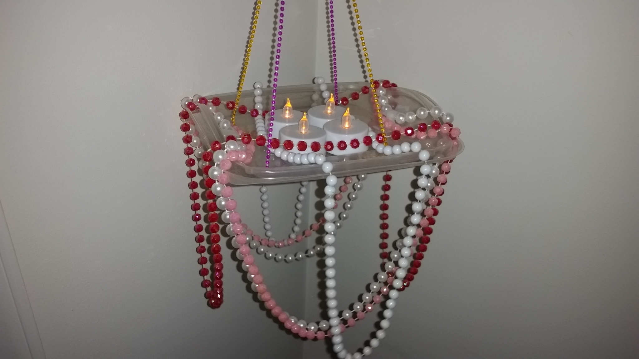 DIY portable party chandelier Chick-fil-A