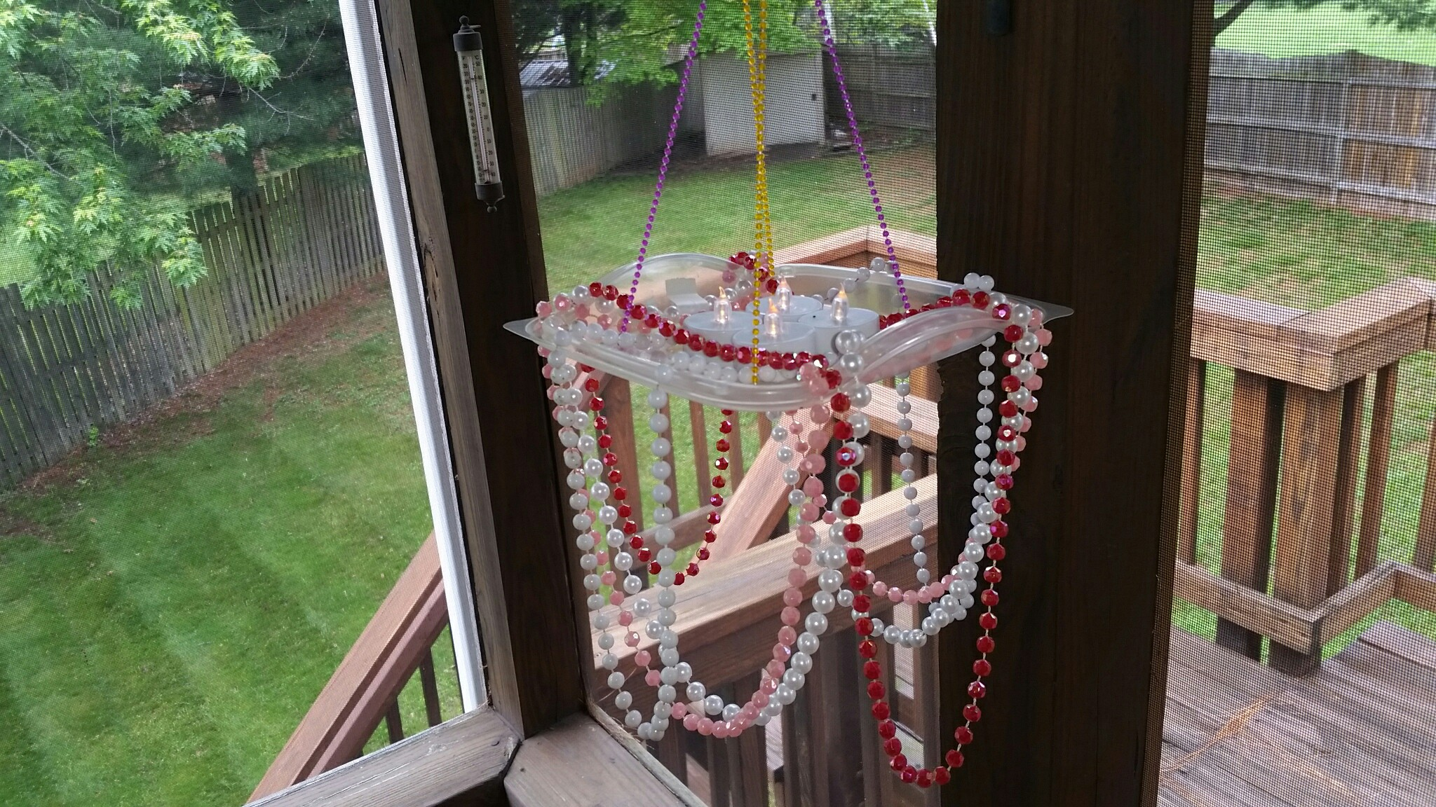 DIY chandelier Chick-fil-A