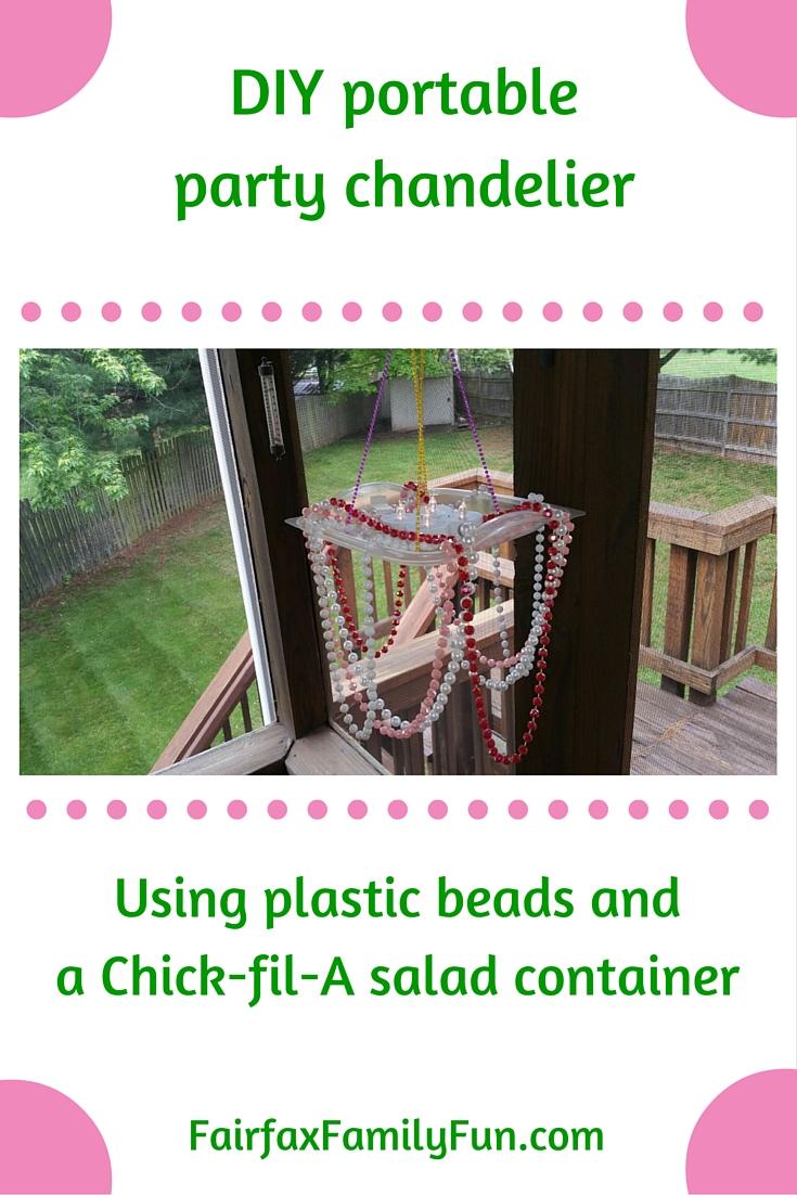 DIY portable party chandelier Chick-fil-A Pinterest