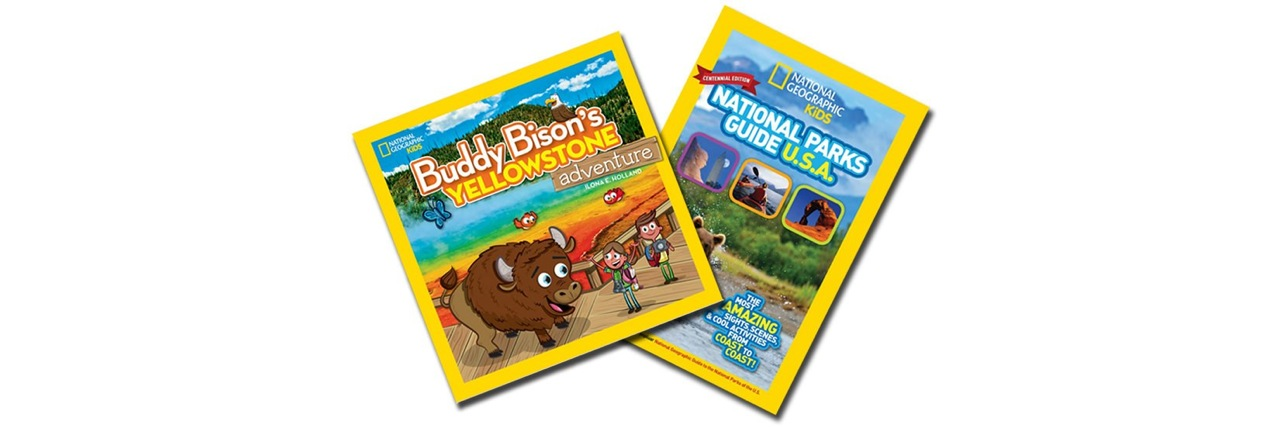Buddy Bison and National Parks Guide books from National Geographic for National Kids to Parks Day giveaway on Fairfax Family Fun