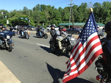 Ride of the Patriots 2013 in Fairfax, Virginia, for Memorial Day