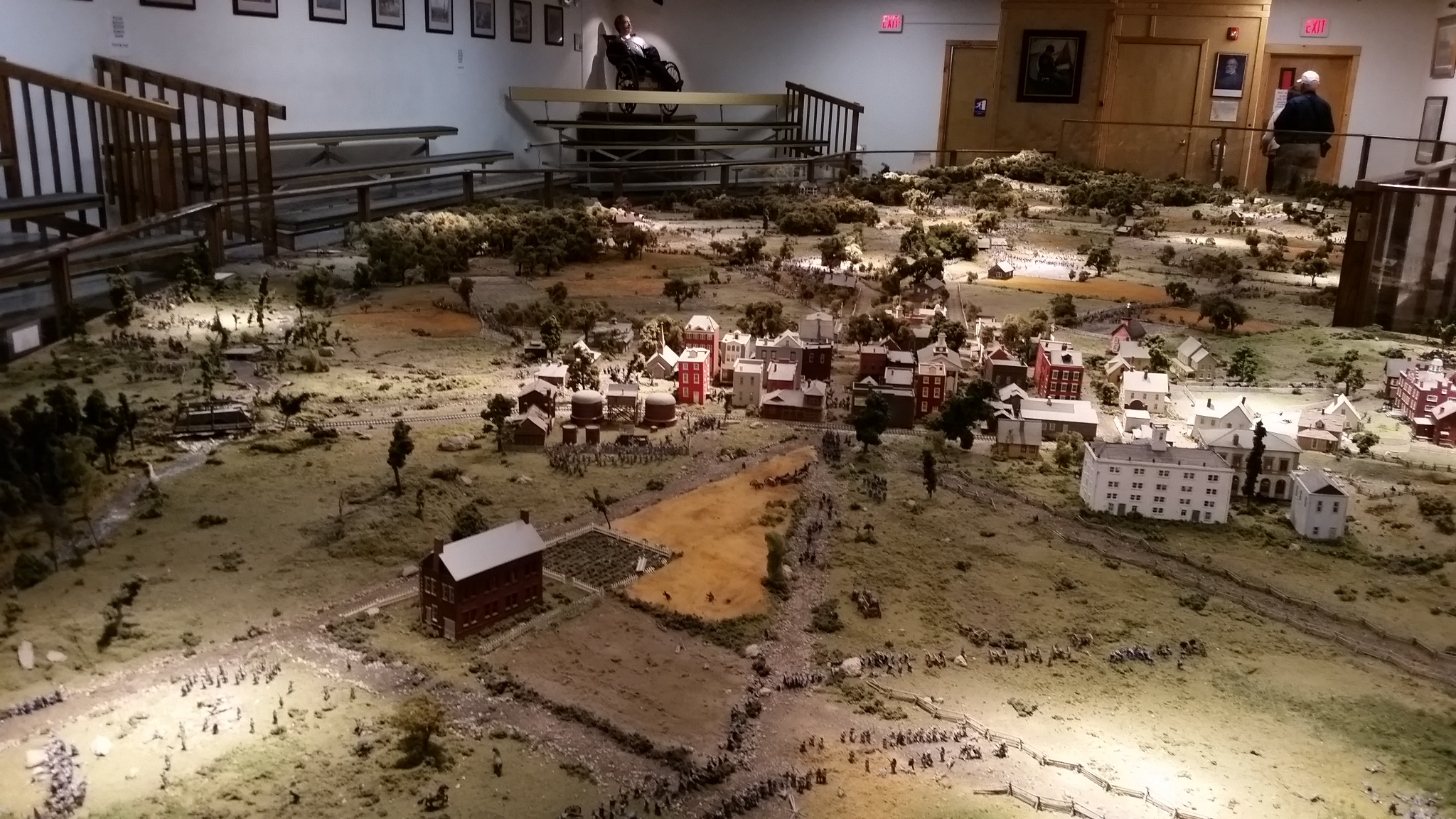 Diorama of the Gettysburg battlefields