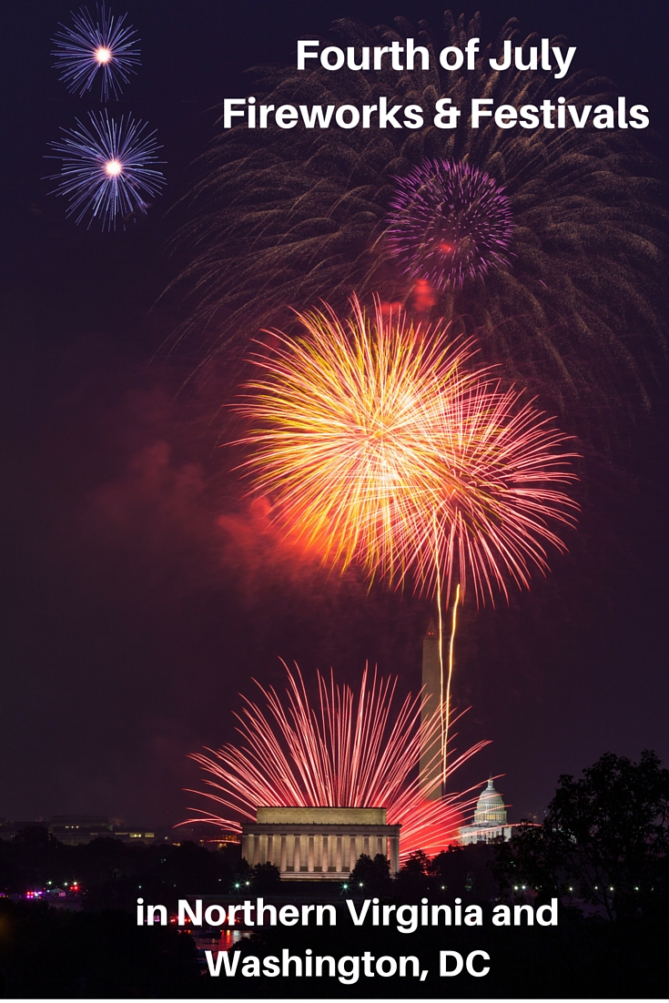Independence Day Fourth of July fireworks and festivals in Washington, DC, and Northern Virginia image and detailed list of events for family fun