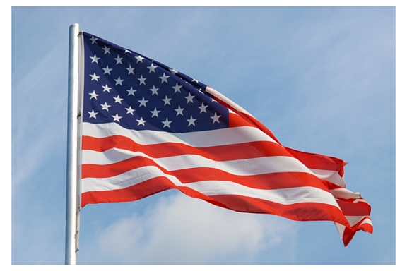 United States American flag waving, for Flag Day and Independence Day or Fourth of July articles