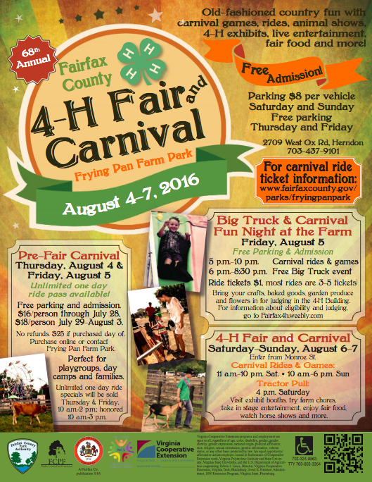 Fairfax County 4 H Fair And Carnival Four Free Days Of Fun