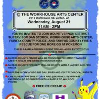 Workhouse Arts Center to host Pokemon GO event