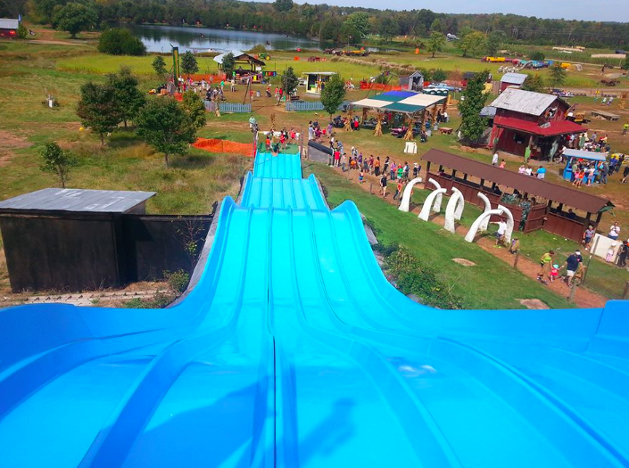 giant slide at Cox Farms fall festival