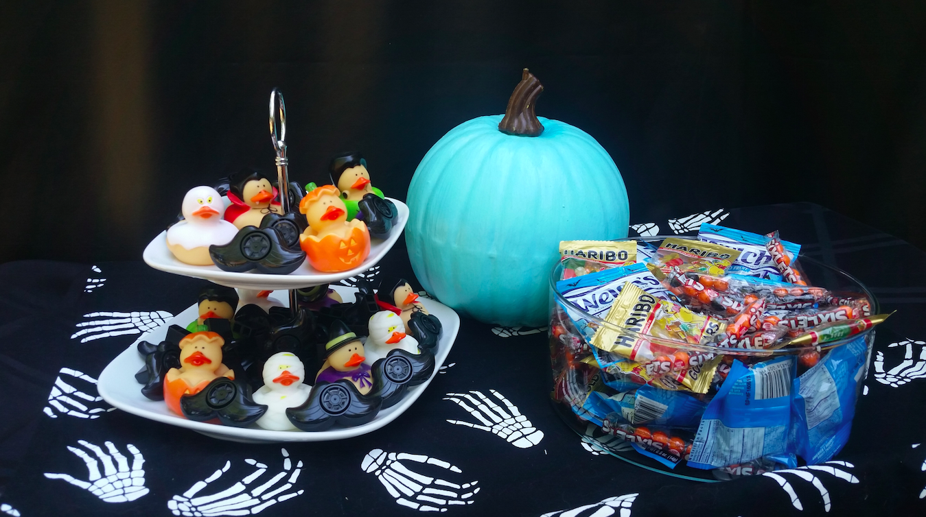 Teal pumpkin and allergy-friendly Halloween candies and non-food treats
