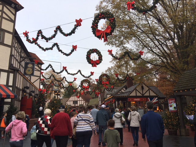 The festive entrance in the London area of the park