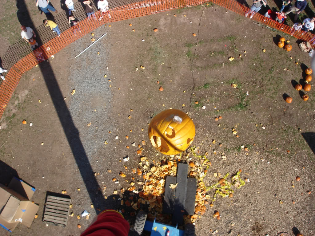 "Pumpkin Madness Days"" A pumpkin's view of Cox Farms' High Drop. ©2011 Cox Farms"
