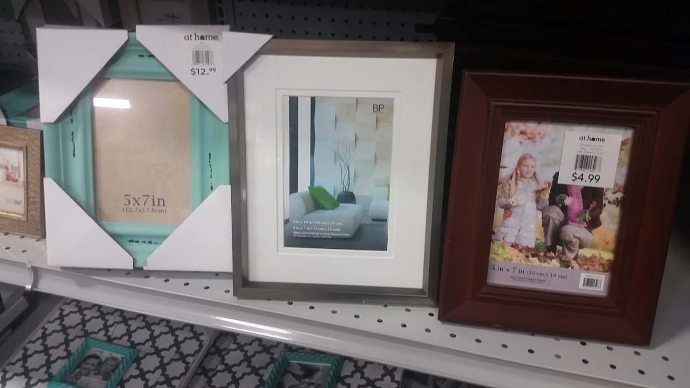 At Home Stores picture frames