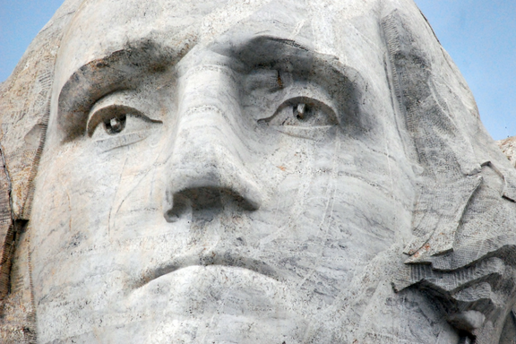 George Washington face from Mount Rushmore