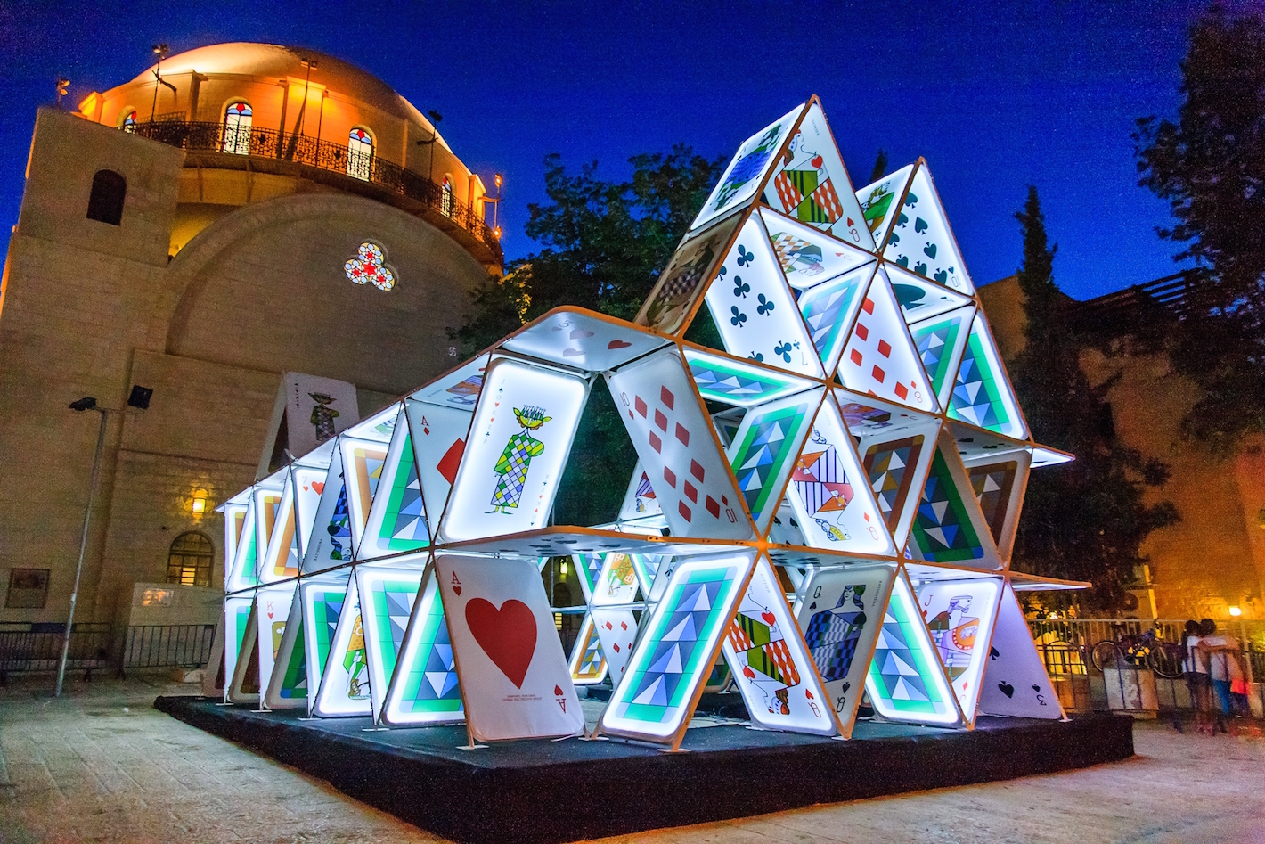 House of Cards at Light in Jerusalem Festival 2014, OGE Group, Credit Perry Mandelboym