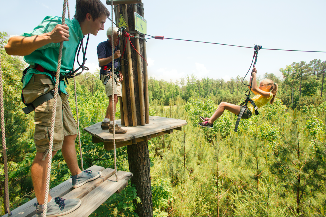 Go Ape Springfield adventure zip line treetops ropes course