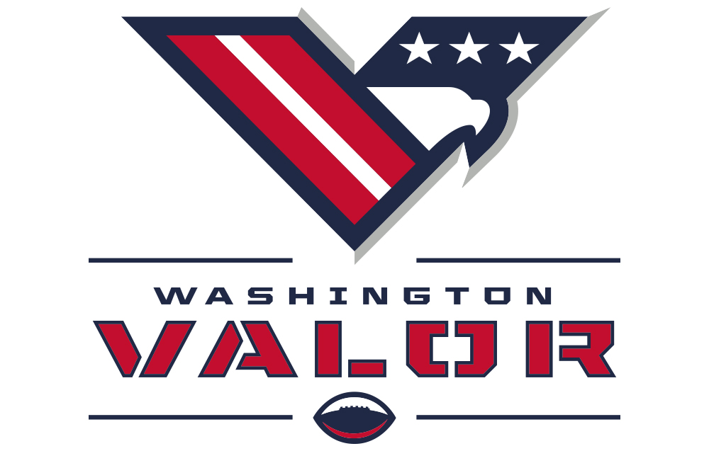 Washington Valor logo, AFL Arena Football League