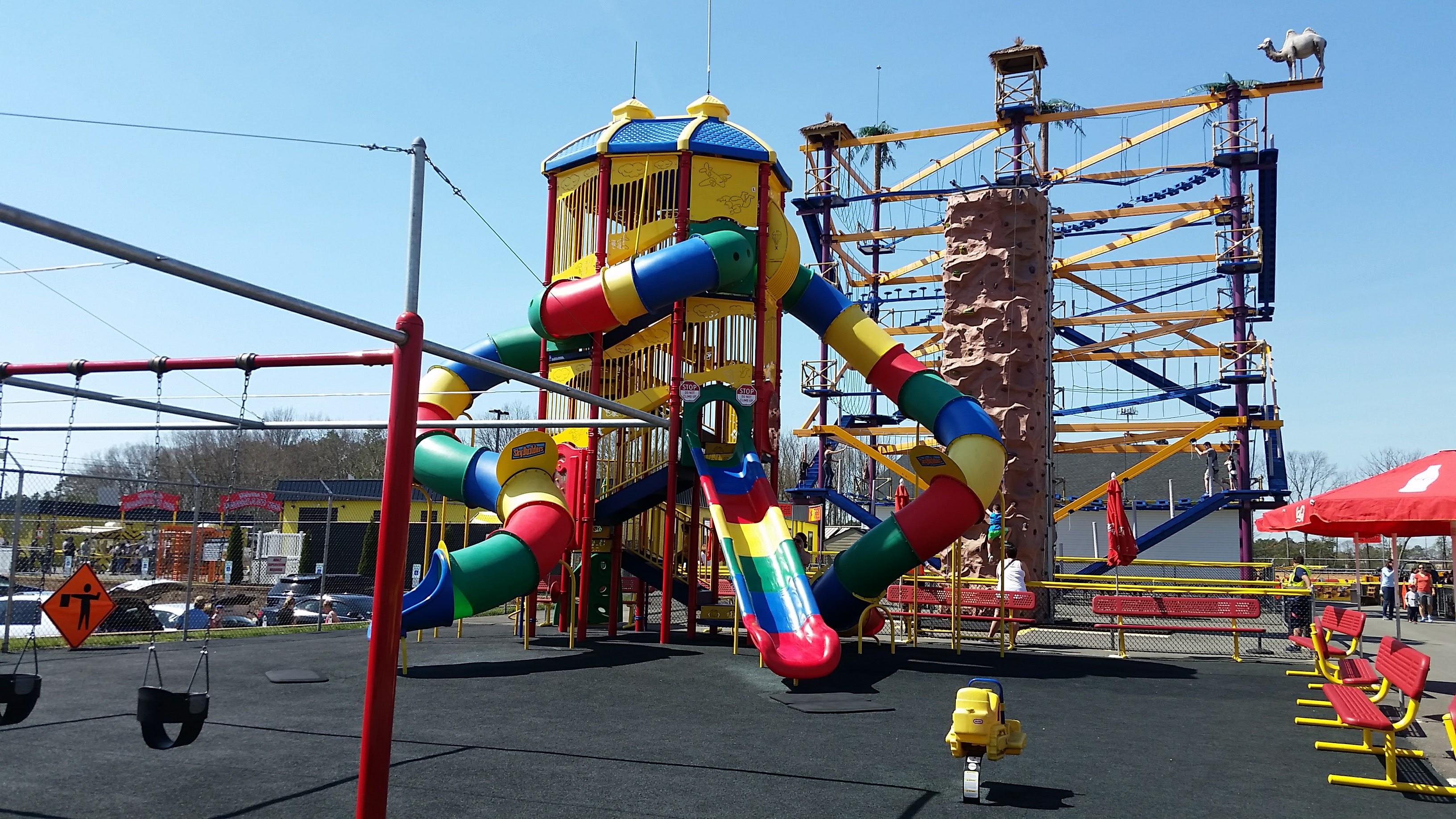 Playground at Diggerland USA theme park