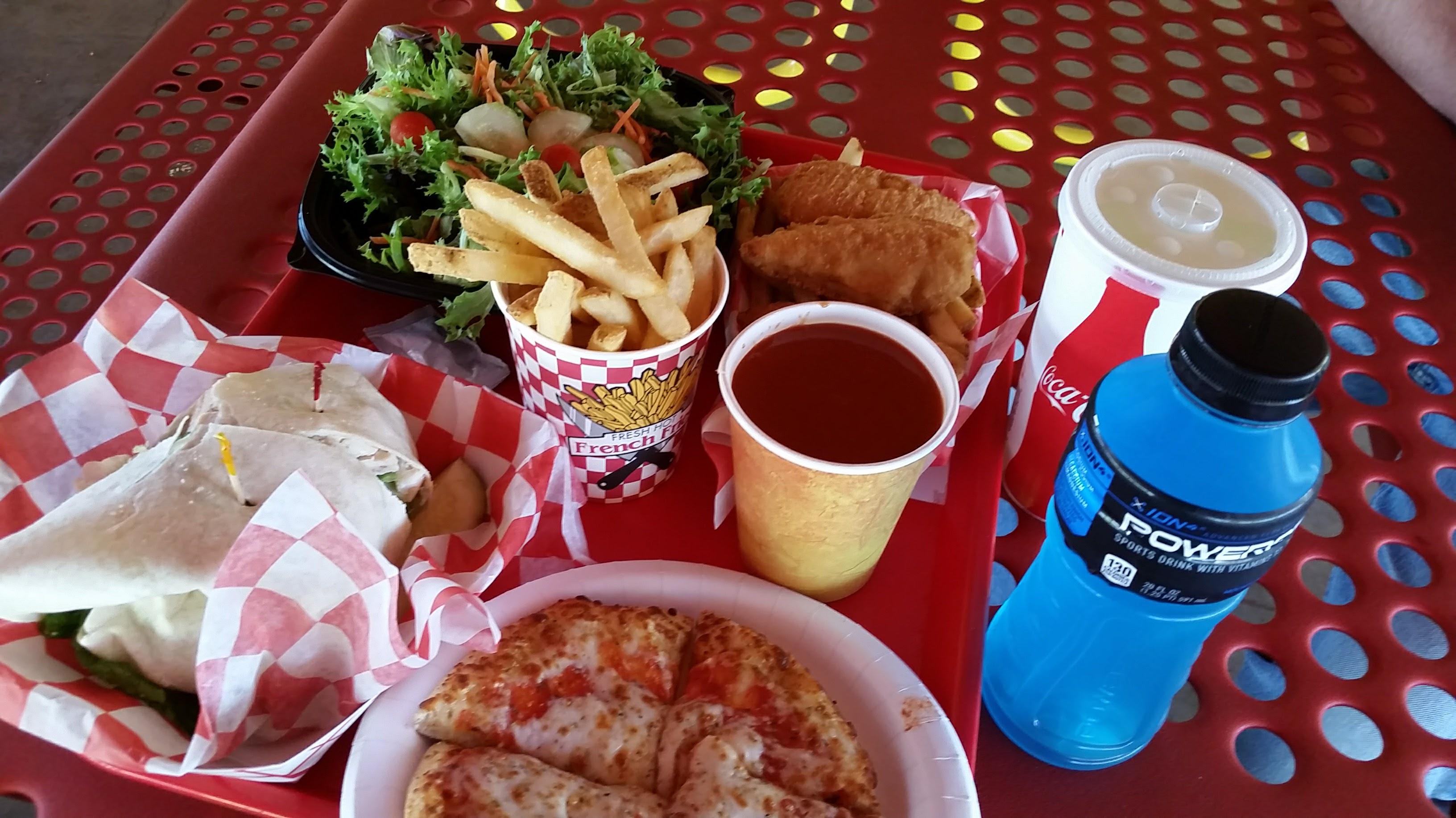 Food at Diggerland USA theme park