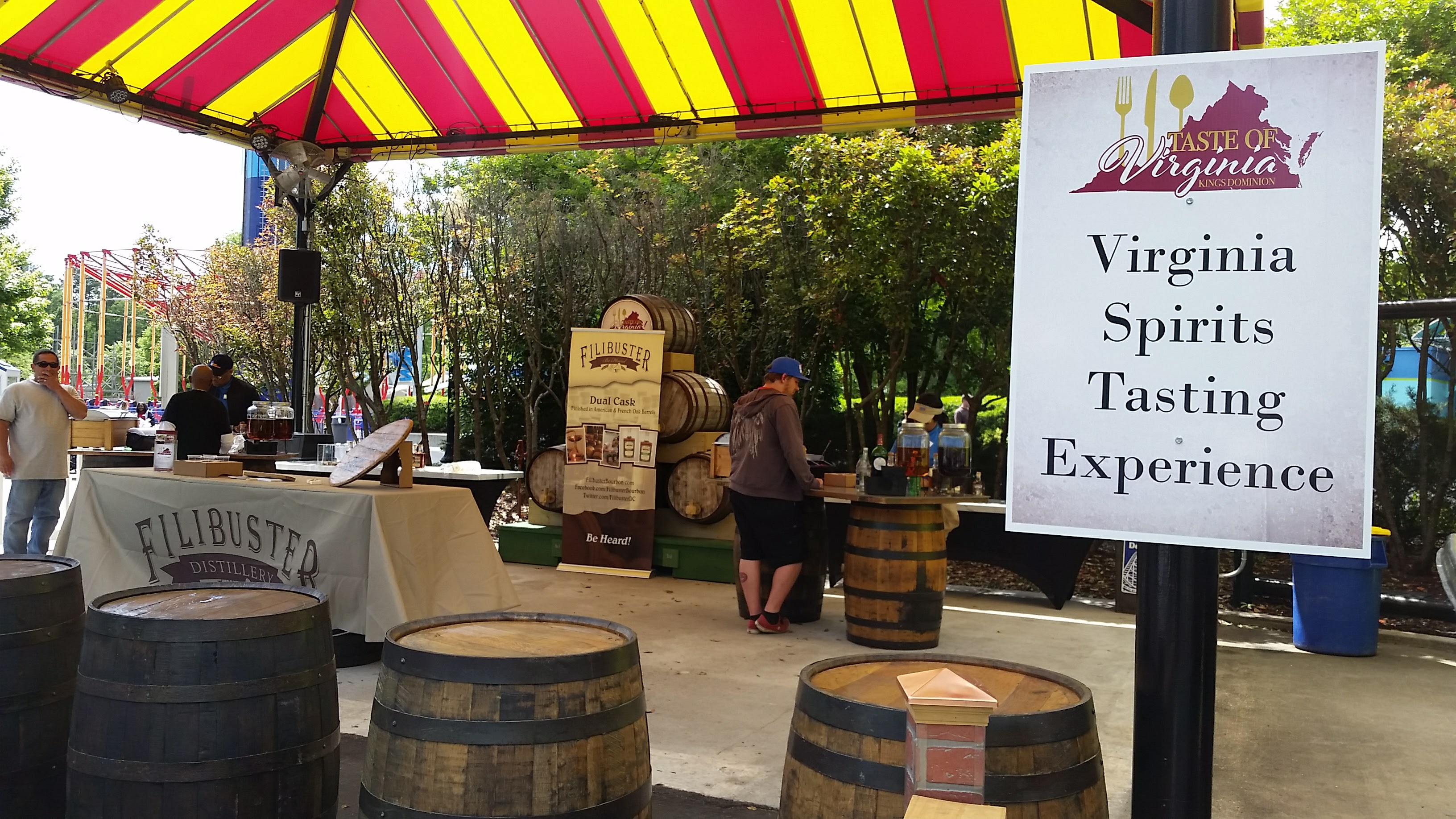 Spirits sampling tent at Taste of Virginia at Kings Dominion