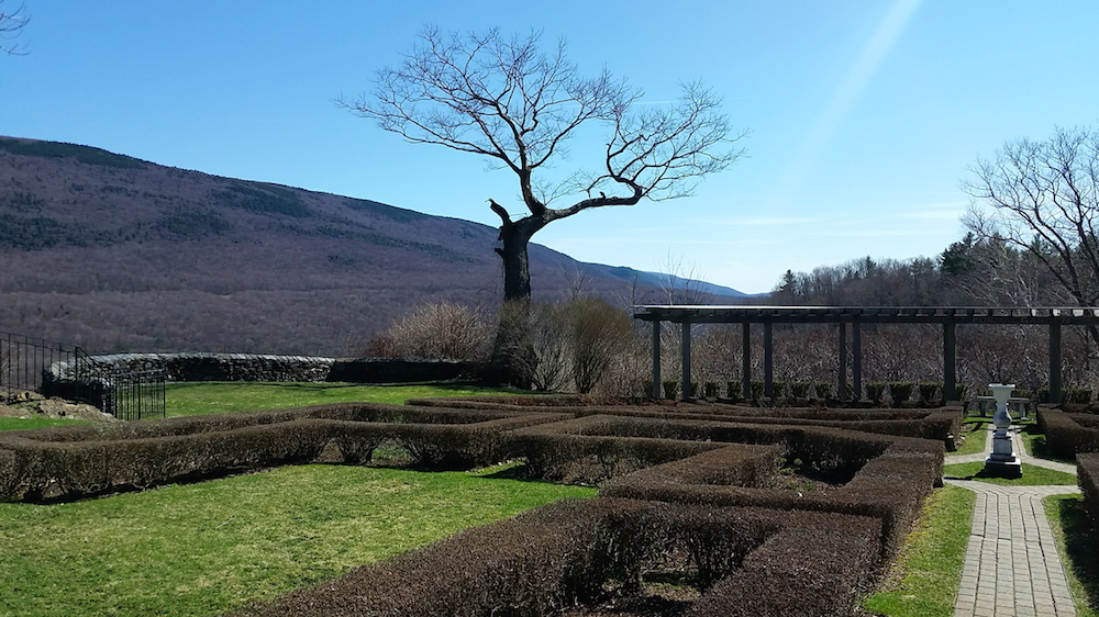 Gardens in late spring at Historic Hildene, Lincoln family home in Manchester, Vermont