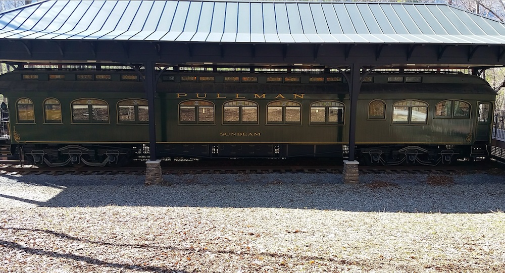 Sunbeam, Pullman car at Historic Hildene, Lincoln family home in Manchester, Vermont
