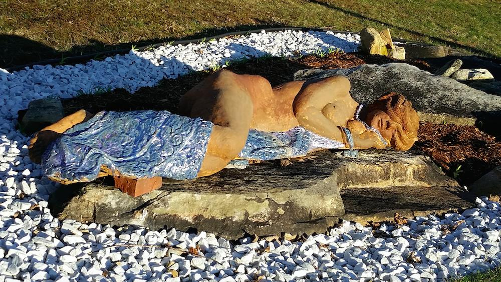 Sculpture of a woman at Wilburton Inn Vermont