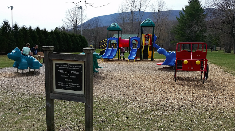 Memorial Park in Manchester Vermont