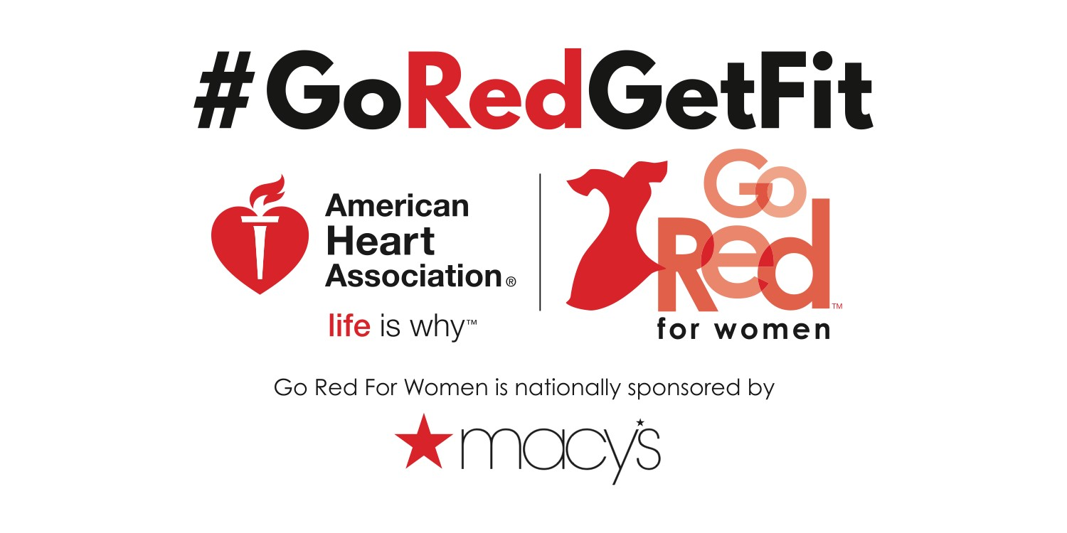Go Red Get Fit logo American Heart Association and Macy's