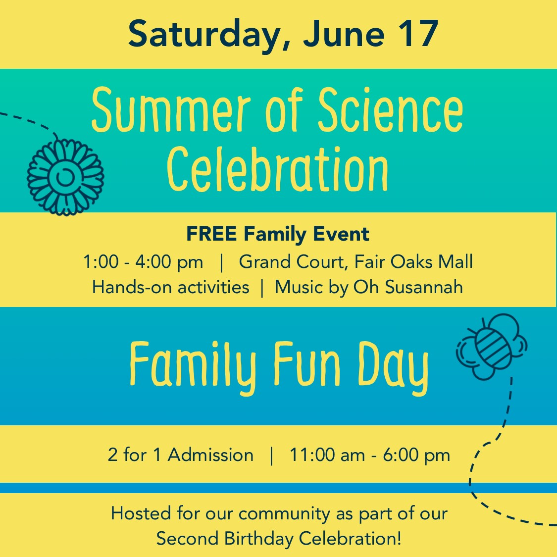 Children's Science Center event June 2017 poster