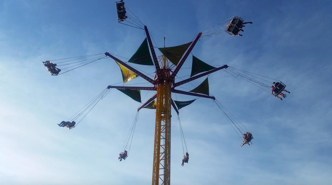 Carnival high swings at Celebrate Fairfax