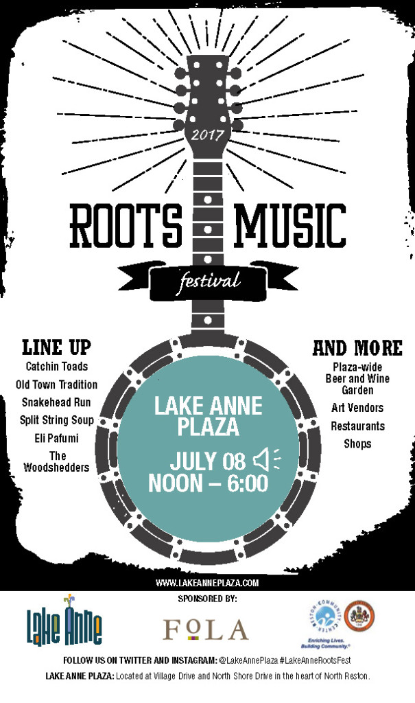 Roots Music Festival Reston flyer