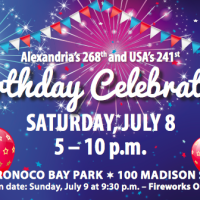 Alexandria fireworks:  music, fun, and birthday cake!