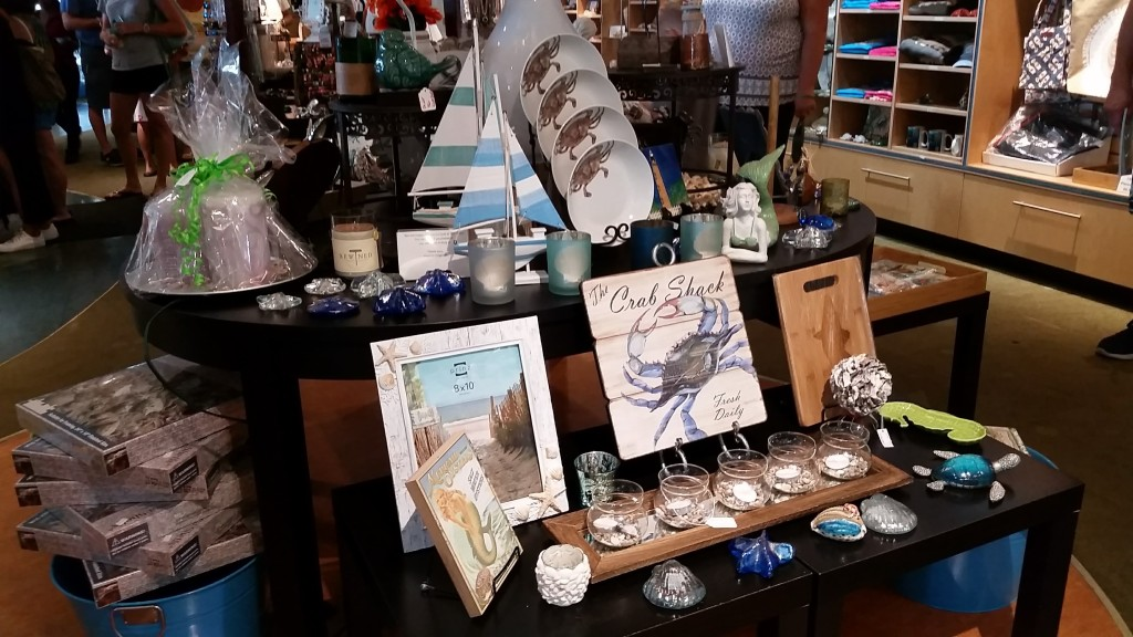Chesapeake Bay-Bridge Tunnel restaurant gift shop items