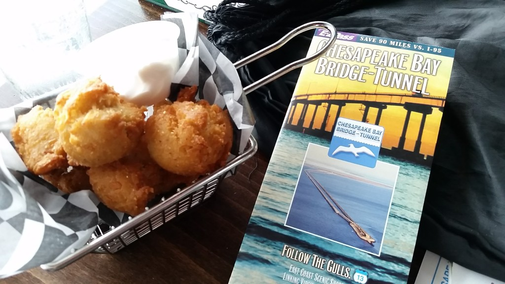 Chesapeake Bay-Bridge Tunnel restaurant food, hush puppies