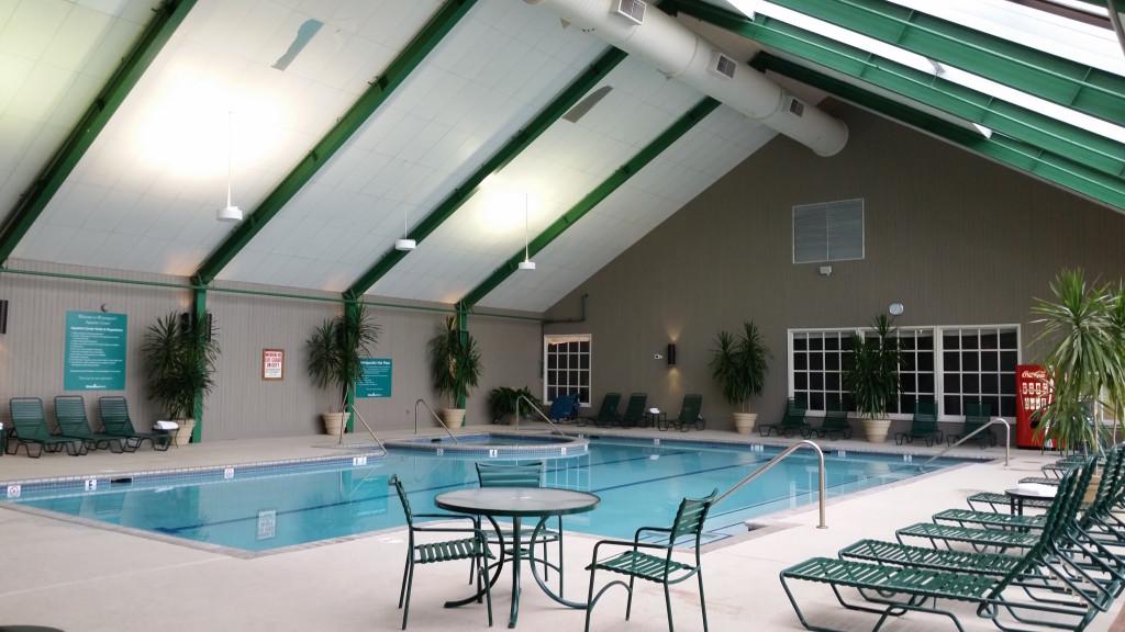 Indoor pool at Wintergreen Resort