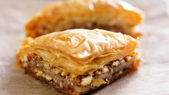 Baklava at Middle Eastern Food Festival in McLean Virginia