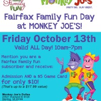 It's your lucky day – Fairfax Family Fun Day at Monkey Joe's Dulles!