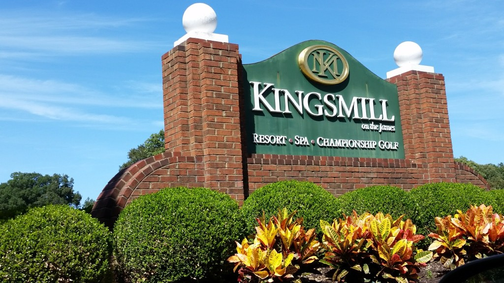 Kingsmill Resort sign
