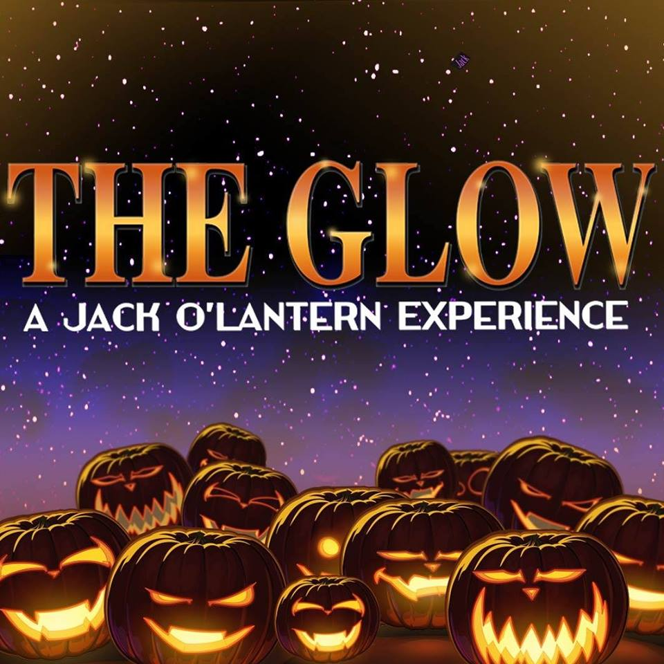 The Glow Halloween experience logo with jack-o-lanterns