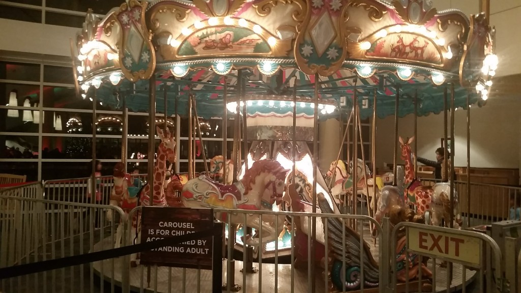 carousel at Christmas Village McLean Bible Church