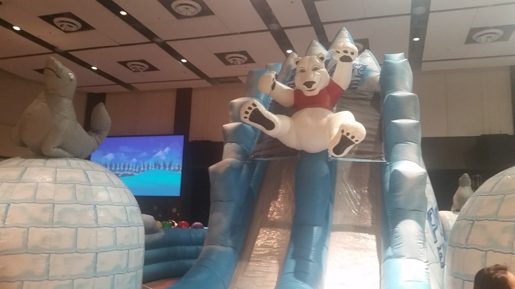 Christmas Village at McLean Bible Church, giant slide for kids